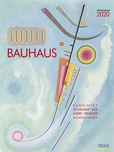 Bauhaus 2020: Großer Kunstkalender. Hochwertiger Wandkalender mit Meisterwerken des Bauhaus Stils. Kunst Gallery Format: 48 x 64 cm, Foliendeckblatt