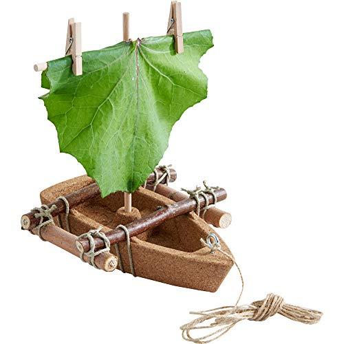 HABA 304244 - Terra Kids Korkboot-Bausatz, Bausatz und Anleitung zum Selber bauen von einem Korkboot für Kinder (22,2 x 9,5 x 3,8 cm), mit optimalen Schwimmeigenschaften