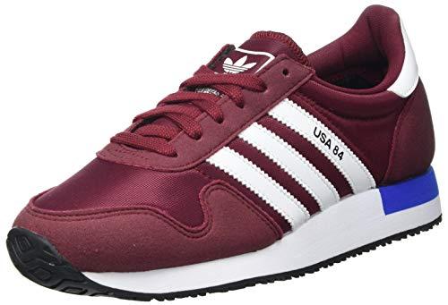 Adidas USA 84, Sneaker Hombre, Collegiate Burgundy/White/Blue, 42 2/3 EU