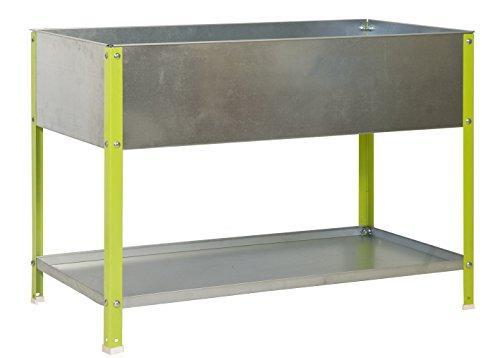 SimonRack G07100220212602 - Huerto urbano, 200 l, 850 x 1200 x 600 mm, color verde/galvanizado