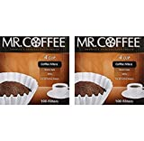 Mr. Coffee 100-Count Coffee Filter 4 Cup - 2-Pack