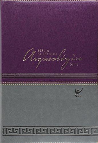 Bíblia de Estudo Arqueológica - Capa Luxo Vinho e Cinza
