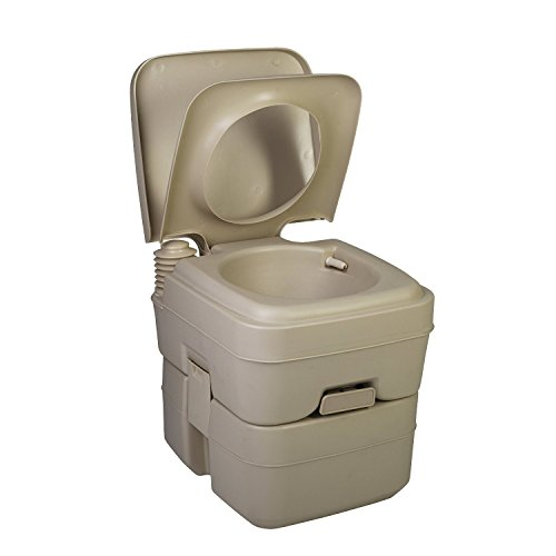 Camping Toilet by Zimmer - 5 Gallon Portable Toilet - Small Porta Potty with Big Performance for Travel & Outdoors