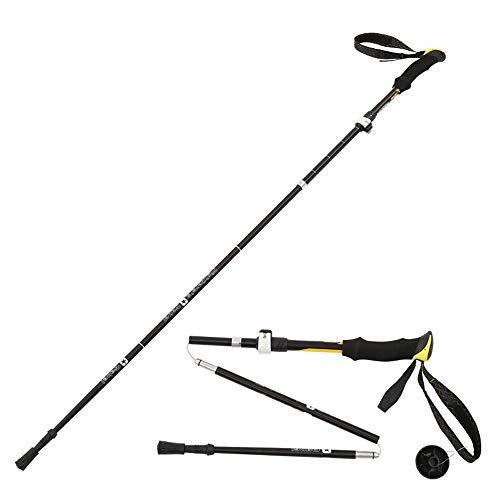 TRER 2- Packs- Nordic Walking Wandelstokken - Quick Lock System Telescopisch Inklapbaar Ultralight Voor Wandelen Camping Berging/Backpacking/Lopen/Wandelen - Blauw - Oranje