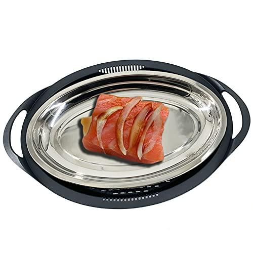 Accesorio para cocinar al vapor de acero inoxidable para Varoma Thermomix TM6, TM5 y TM31 – Bandeja para horno, antihumedad, sin goteos, bandeja para cocinar al vapor