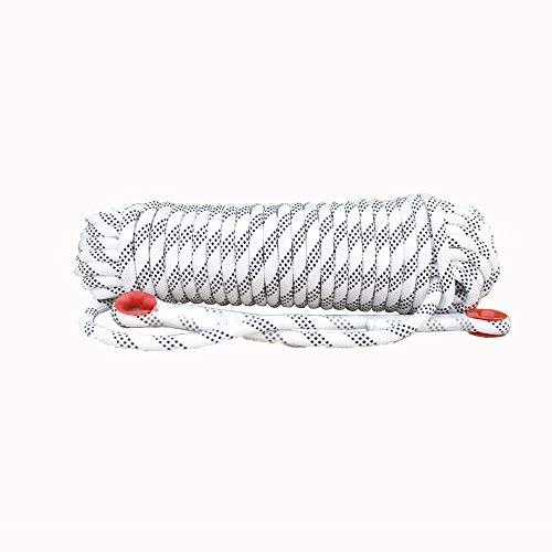Corde de sécurité multifonctionnelle Extérieur Escalade corde avec mousquetons Arbre matériel d'escalade Activités de plein air for 10MM 20MM (blanc) Heavy Duty Mountain Equipment pour Randonnée Alpin
