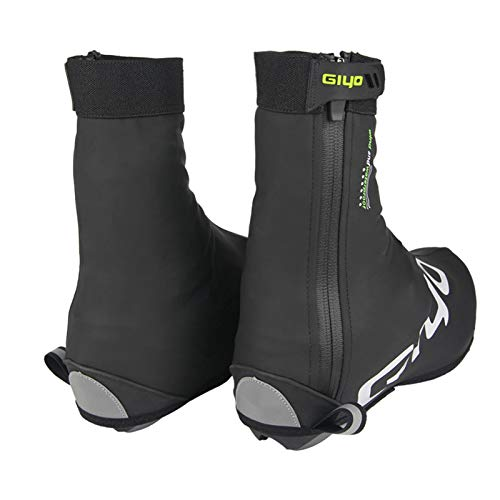 LTDD Bicycle Shoe Covers, Pu Waterproof Fleece Lining, Men and Womens Winter Warm Full Bicycle Overshoes, Road and Mountain Bike Boots