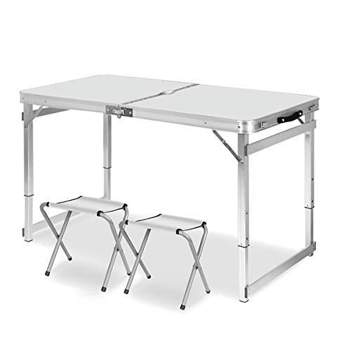 Racks Aluminum Folding Table for Indoor Outdoor Camping, Hiking and Picnic 3 Height Adjustable Dining Camp Portable Utility Folding Tables