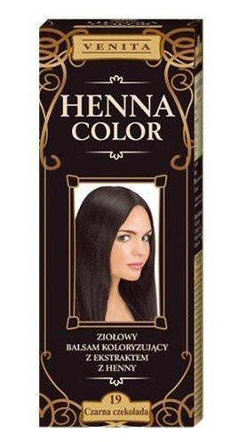 Henna Color 19 Dunkle Schokolade Haarbalsam Haarfarbe Farbeffekt Naturhaarfärbemittel Henne Öko