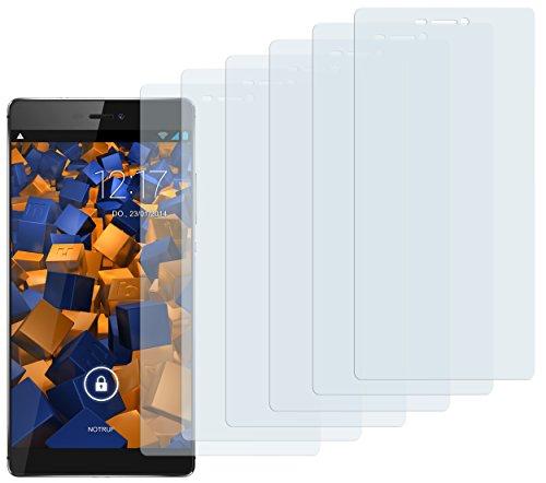 Schutzfolie kompatibel mit Huawei P8 Folie klar, Displayschutzfolie (6X)