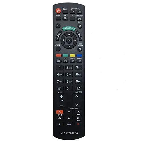 ALLIMITY N2QAYB000752 Sub N2QAYB000753 Mando a Distancia reemplazado por Panasonic Viera LCD LED TV TX-P42XT50E TX-P46GT30E TX-P46GT30Y TX-P46GTF32 TX-P46GTF32J TX-P46GTN33 TX-P46GTS31 TX-P46GTX34