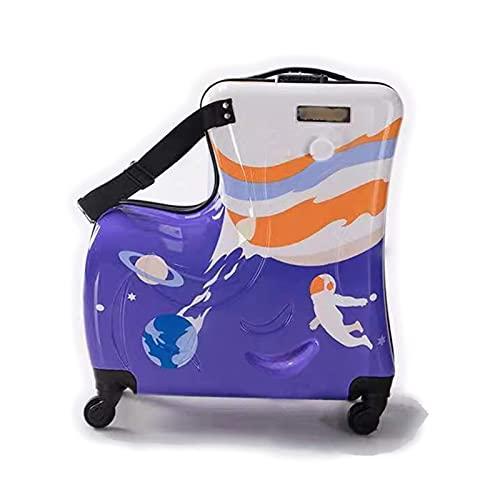 TAIJUN Maleta infantil para niños con ruedas de 54 x 47 x 23 cm, cerradura de combinación de 50 litros, 4,3 kg, 4 ruedas, equipaje de mano, equipaje para niños