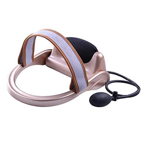 Gxnimer Spine Posture Pump - Tragbare Zervikale Zug- Und Entspannungsvorrichtung Relaxer Massage Traction Pillow Chiropraktikkissen Zur Schmerzlinderung, Gold