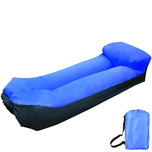 XUE-SHELF Aufblasbare Liege – Cooler aufblasbarer Stuhl, Upgrade Ihres Campingzubehörs, einfache Einrichtung, perfekt für Wanderausrüstung, Strandstuhl und Musik-Festivals, Königsblau