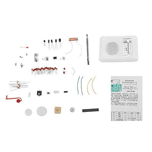 Bausatz für AM/FM-Dualband-Radio, CF210SP-Elektronikbausatz AM/FM-Empfangsfrequenzbereich 525-1605KHz / 76-108MHz Leistungsverstärkerschaltung Nimmt TDA2822 an