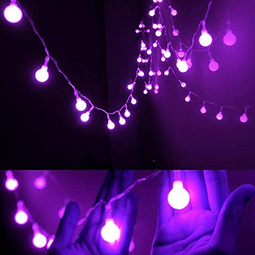 KDMB Globe Fairy Light, 5M 50LED Indoor Ball String Lights Globe String Lights Battery Operated Starry Lights For garden outdoor party