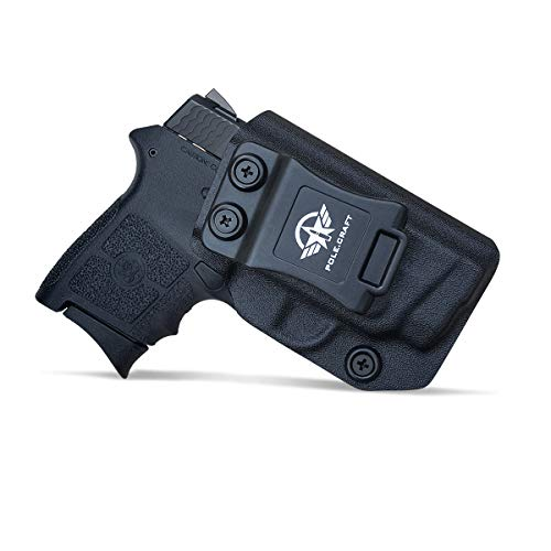 IWB Tactical KYDEX Gun Holster Custom Fits: Smith & Wesson M&P Bodyguard 380 / Laser BG380 Pistolet Case Inside Concealed Carry Holster Guns Accessories Etuis (Black, Right Hand Draw (IWB))