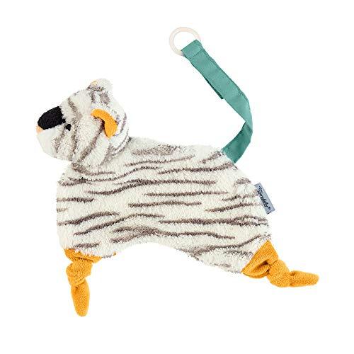 Sterntaler Schmusetuch Kuschelzoo, Tiger Tapsi, Alter: Für Babys ab dem 1. Monat, Größe: 20 cm, Farbe: Weiß