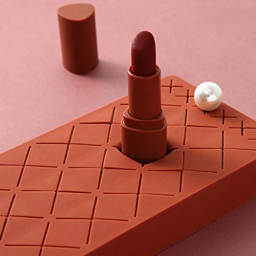 Balock Silikon Lippenstift Halter,Multifunktionale Makeup Lipgloss Halter,Desktop Makeup Bürsten...
