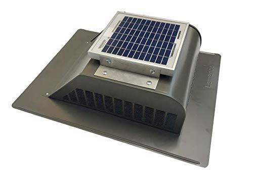 Solar Roof Vent - Solar Attic Fan - Solar SlantBlaster Weathered Bronze - Slantback Vent Style