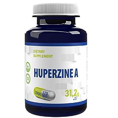 Huperzine A 250 mcg 120 Vegan Capsules, Certificate of Analysis by AGROLAB Germany, High Strength, Gluten, GMO Free