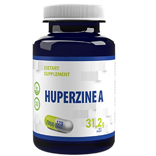 Huperzine A 120 Vegan Kapseln 250 mcg Brain Supplement to Promote Acetylcholine, Support Memory and Focus, 4 Monate Vorrat