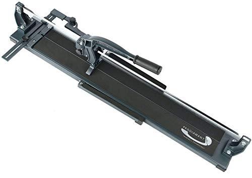 PRODIAMANT Fliesenschneider 850mm Schnittlänge kugelgelagert mit Profiwinkel für Fliesen und Feinsteinzeug