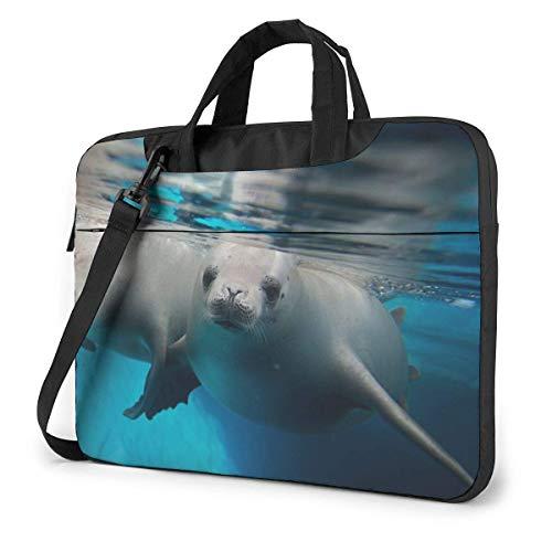 Seals Under Water Bolso Bandolera para portátil con Manga maletín a Prueba de Golpes y Correa