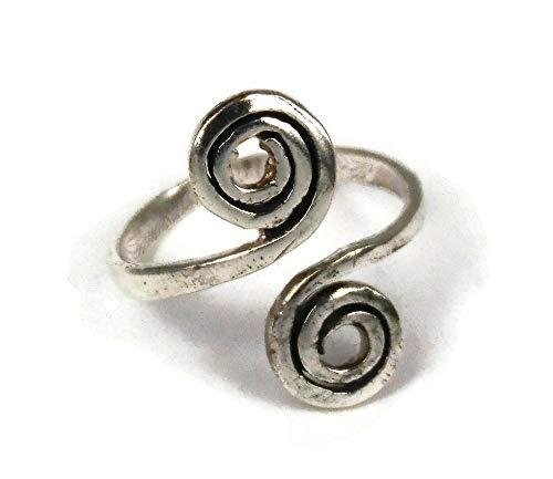 Zehenring für Frauen - Silber Zehenring - Verstellbarer Zehenring - Fussring - Fußring - Fußschmuck - Fingerringe - Geschenk fuer Damen - Fussschmuck für Damen & Frauen