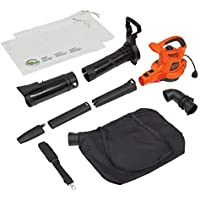 BLACK+DECKER 3-In-1 Electric Leaf Blower & Mulcher With Vacuum Kit