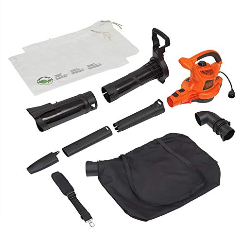 BLACK+DECKER 3-in-1 Electric Leaf Blower & Mulcher with Leaf...