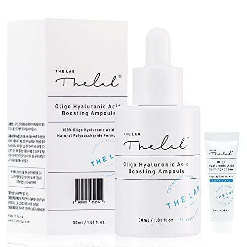 Blanc Doux Hyaluronic Acid Deep Hydrating Essence Ampoule Serum 1.01 fl. oz. VEGAN Certified Deeply Hydrating Moisturizer for Face   with Dry Sensitive Acne Prone Skin   Anti-Aging Fine Lines Wrinkle