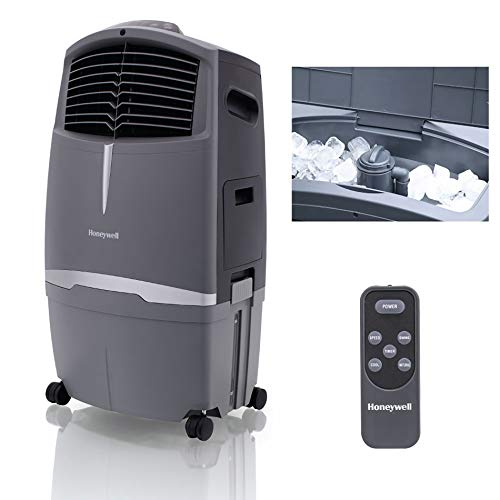 Honeywell 525 CFM Indoor Outdoor Portable Evaporative Cooler, 525CFM, Grey