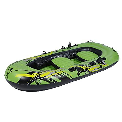 QSKL Botes de Kayak inflables para 2/3/4/5 Personas con válvula Doble, Kayaks de Turismo de Pesca para Adultos, Pesca, Bote de Pesca en Canoa, Juego de Botes inflables,5 Person