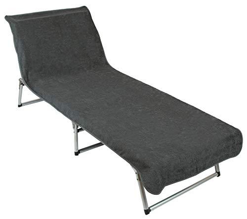 ZOLLNER Schonbezug Gartenliege, Baumwolle, 75x210 cm, grau (weitere verfügbar)
