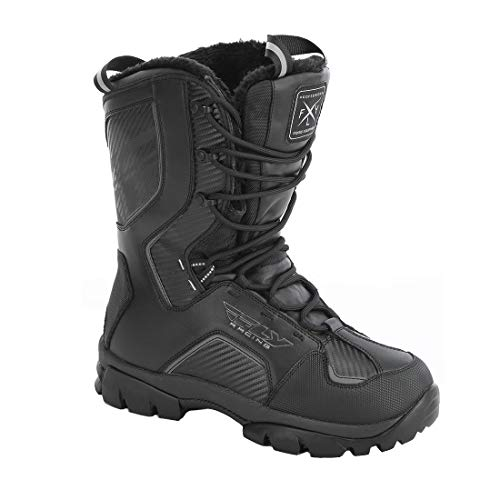 Fly Snow Marker Men's Black Snowmobile Boots - Black / 12