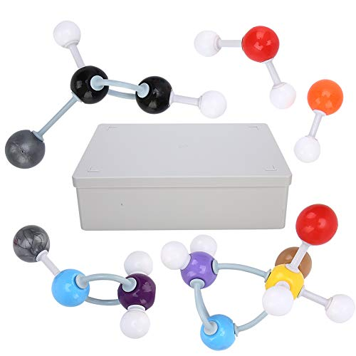 Homeriy 194pcs Organic Chemistry Molecular Model Kit Molecular Structure Model Stick Model for High School Teachers Students XMM-019