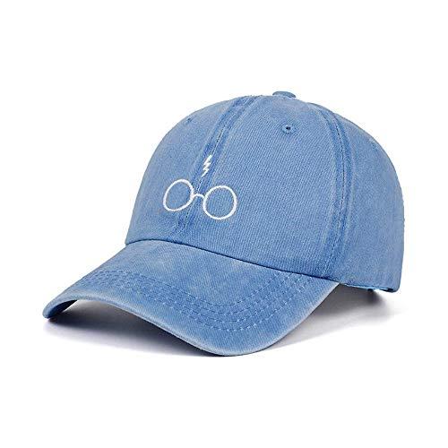 KLYHCHN Gipfelkappe Sommer Strand Sonnencrreen UV-beständig Hip Hop Kappe Brille Stickerei Baseballmütze Sportkappen Kopfbedeckung Feste Farbe Warme Stein Klettern Bergklettern Fitness (blau)