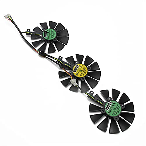 87mm T129215SU T129215SM DC 12V 0.50AMP 4PIN 4PIN Fan DE ENFRIENCIA DE Alambre para ASUS GTX980TI R9 390X 390 GTX1070 Fans De La Tarjeta Gráfica (Blade Color : 3PCS)
