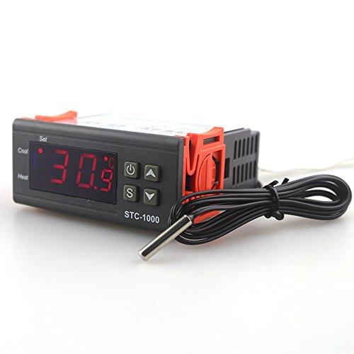 KKmoon Regolatore Elettronico di Temperatura del Microcomputer con Display Digitale a LED Elettronico STC-1000