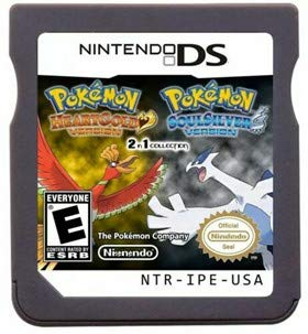 New Pokemon Heart Gold Soul Silve Version Games 2 In 1 USA Reproduction Version For Nintendo DS 3DS 2DS