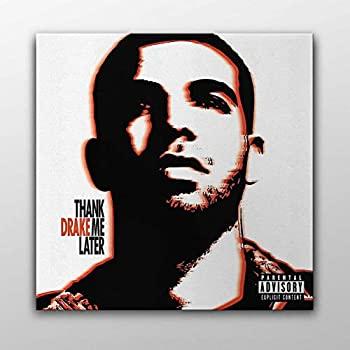 Drake - Thank Me Later Album Cover Canvas Poster Wall Art Printed Home Decor Modern Print Gift Idea  30cm x 30cm