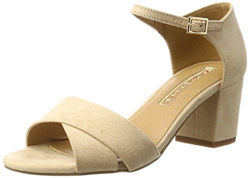 Buffalo Shoes Damen 315267 IMI Suede BHWMD A16 Knöchelriemchen, Beige (Nude 01), 39 EU