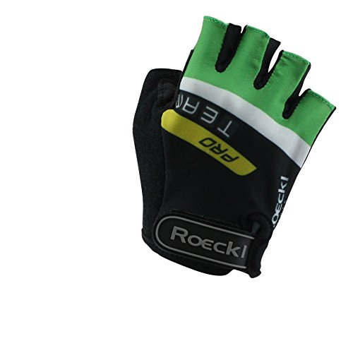 Roeckl guantes de ciclismo MTB verano corto del dedo Negro Verde 1290,...