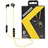 Kicker Bluetooth Wireless Earbuds | Passive Noise Reducing Headphones Earbuds w/Built-in Mic with Multi Function Button Volume Control | Sweat and Water Resistant