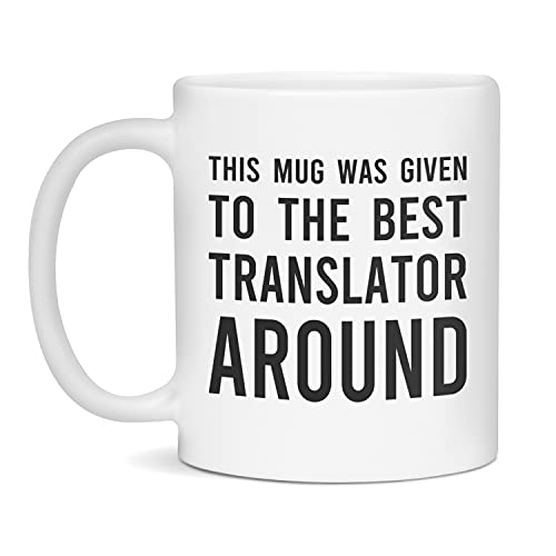Funny Mugs For Translator   Coffee Mugs for Coworkers   Gag Gift, 11-Ounce White