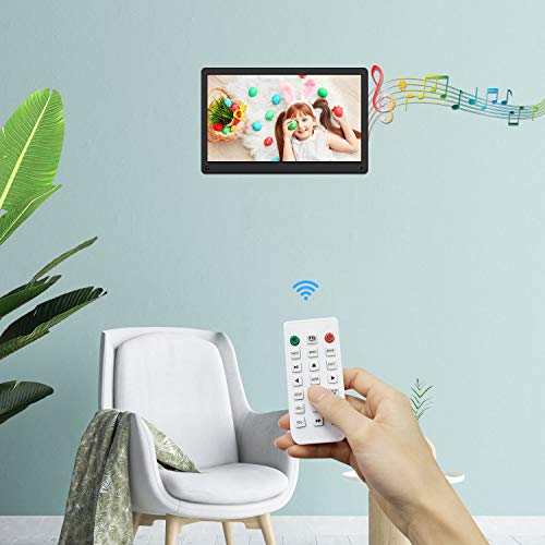 Atatat 15.6 Inch Digital Photo Frame with Motion Sensor, 1920x1080 IPS Screen, Digital Picture Frame Support 1080P Video, Music, Slideshow,Breakpoint Play,Adjustable Brightness,Auto-Rotate,Remote