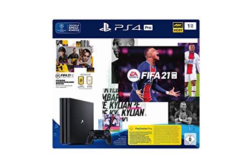 PlayStation 4 Pro Konsole - 1 TB JET Black mit EA Sports FIFA 21 PS 4 (inkl. kostenlosem Upgrade auf PS 5)