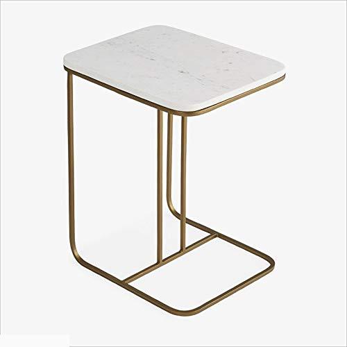 MXueei Computer Desk ZfgG smeedijzer + marmer bijzettafel salontafel woonkamer kleine vierkante tafel creatieve bank hoektafel
