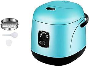 Mini rijstkoker voor thuisgebruik Nonstick Rijstkoker automatische 1.2L capaciteit voor 1-3 Mensen rijstkoker, Blauw